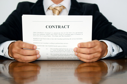Singing a contract